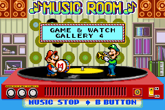 Game & Watch Gallery 4's Music Room