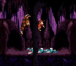 Manic Mincers' first bonus area from Donkey Kong Country