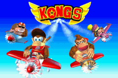 The victory screen for Team Kong in Diddy Kong Pilot 2003, shown after completing a cup as a member of Team Kong