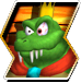 King K. Rool's character selection icon from Donkey Kong Barrel Blast.