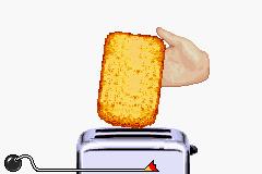 WarioWare: Twisted! game screenshot: A screenshot of the microgame Toaster Jam