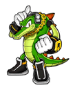 A Sticker of Vector in Super Smash Bros. Brawl.