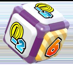 Waluigi's Dice Block from Mario Party: Star Rush