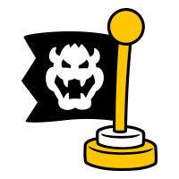 Checkpoint Flag stamp from Super Mario 3D World + Bowser's Fury.