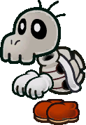 Sprite of a Dry Bones from Super Paper Mario.