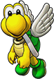 Sprite of Green Koopa Paratroopa's team image, from Puzzle & Dragons: Super Mario Bros. Edition.