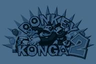 "Texture of the European logo in Donkey Konga 2'""`UNIQ--nowiki-00000000-QINU`""'s Freestyle Zone options menu."