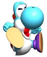 A Light Blue Yoshi, ground pounding