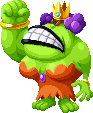 Sprite of Queen Bean with only her right arm from Mario & Luigi: Superstar Saga + Bowser's Minions.