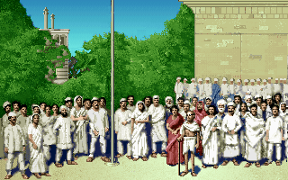 Mahatma Gandhi in the PC release of Mario's Time Machine