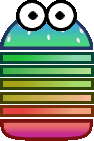 Sprite of a Sproing-Oing from Super Paper Mario.