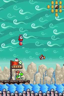 Screenshot of Up the Creek from Yoshi's Island DS