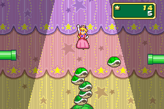 This is a screenshot of the mini-game, Shell Stack.