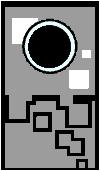 Sprite of a Chromeba from Super Paper Mario.