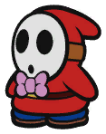 Emcee Shy Guy in Paper Mario: The Origami King