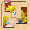 The icon for T-Blocks Puzzle featuring Princess Peach's artwork for Mario Superstar Baseball.