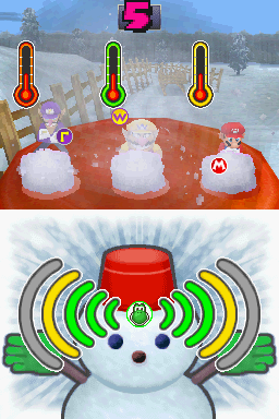 Gameplay of Gusty Blizzard in Mario Party DS.