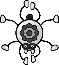 A Pider from Paper Mario: The Thousand-Year Door.