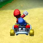 Mario performing a trick.