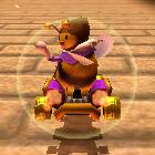 Honey Queen performing a trick.