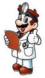 A sticker of Dr. Mario