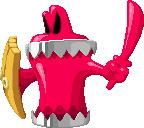Sprite of Chuckolator (sword and shield) from Mario & Luigi: Superstar Saga + Bowser's Minions.