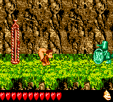 Dixie Kong encounters the Koin of Rickety Rapids from Donkey Kong GB: Dinky Kong & Dixie Kong