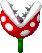 Sprite of a red Piranha Plant from Mario & Luigi: Superstar Saga + Bowser's Minions.