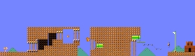 Layout of Belch Base in Super Mario Maker.