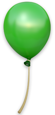 Artwork of a Green Balloon from Donkey Kong Country: Tropical Freeze.