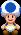 A Blue Toad in Mario & Luigi: Paper Jam.