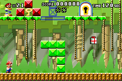 Level 2-1 in Mario vs. Donkey Kong