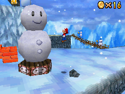 Mario at Cool, Cool Mountain