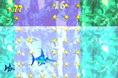 """The """"Collect the Stars!"""" Bonus Level of Arctic Abyss in the Game Boy Advance remake of Donkey Kong Country 2."""