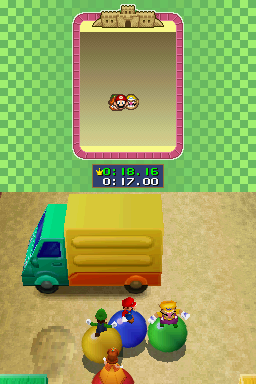 4-player mode for Roller Coasters in Mario Party DS