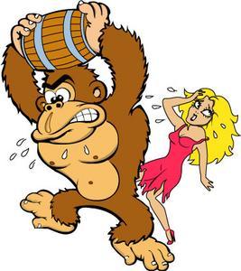 DK Donkey Kong Holding Barrel and Pauline Artwork.jpg