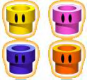 The strangely warp pipes from Pipesqueak, of Mario Party 3