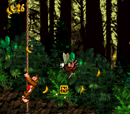 The N in Forest Frenzy from Donkey Kong Country
