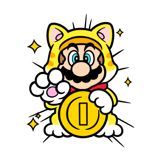 Lucky Cat Mario stamp from Super Mario 3D World + Bowser's Fury.