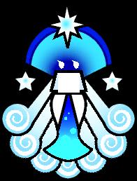 Merlumina's sprite from Super Paper Mario.