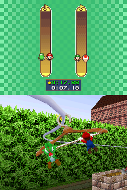 2 vs. 2 mode for Hanger Management in Mario Party DS