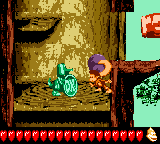 Dixie Kong encounters the Koin of Minky Mischief in Donkey Kong GB: Dinky Kong & Dixie Kong