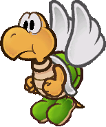 Sprite of a green Koopa Paratroopa (non-brainwashed) from Super Paper Mario.