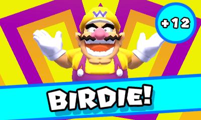 Wario gets a Birdie in Mario Golf: World Tour.