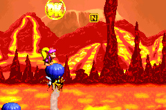 The location of the DK Coin in Red-Hot Ride in the Game Boy Advance version