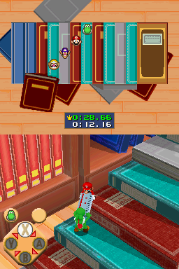 Gameplay of Book It! in Mario Party DS.