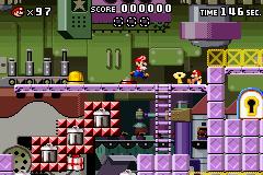 Level 1-4+ of Mario vs. Donkey Kong.
