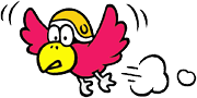 Character artwork of a Chicken from Super Mario Land.