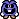 A Blue Virus's overworld sprite from Mario & Luigi: Superstar Saga.
