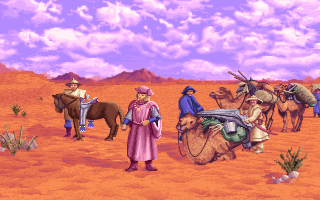 Marco Polo in the Gobi Desert in the PC release of Mario's Time Machine